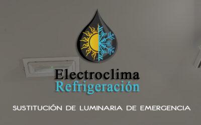 Sustitución de Luminaria de Emergencia