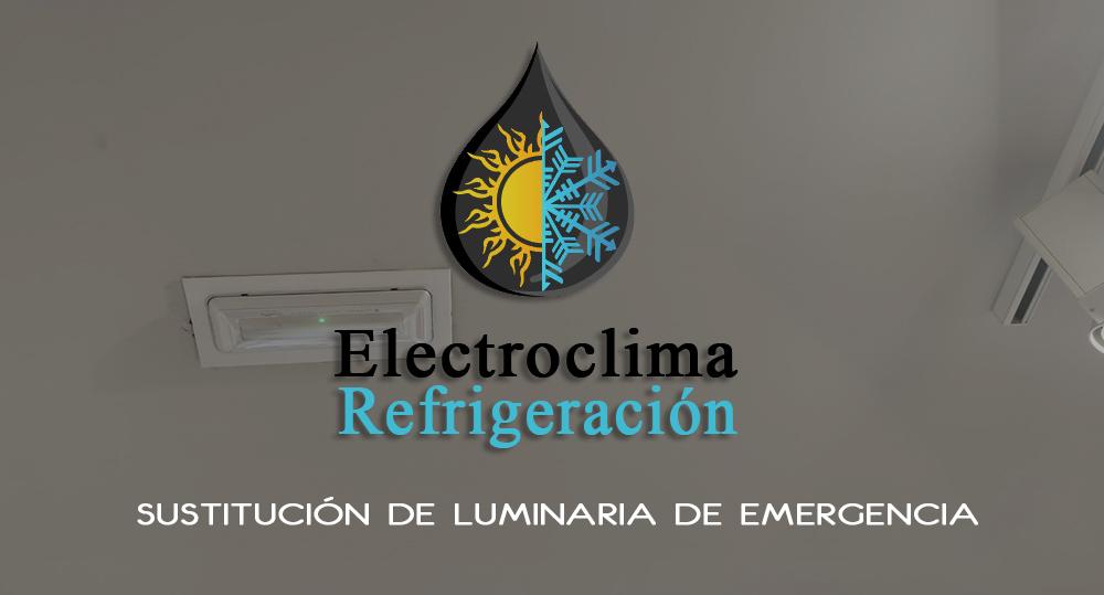 Sustitución de Luminaria de Emergencia en la tienda Encuentro Moda de Badajoz